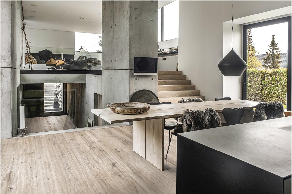 Interior with light floor